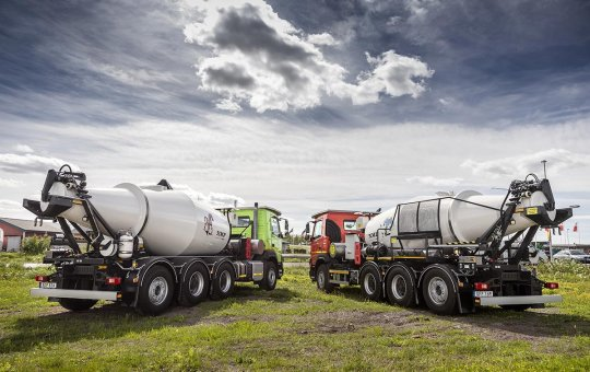 NMV Group delivers concrete mixer drums to Boliden