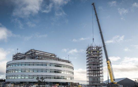 Klocktornet renoverat till toppskick hos NMV i Kiruna
