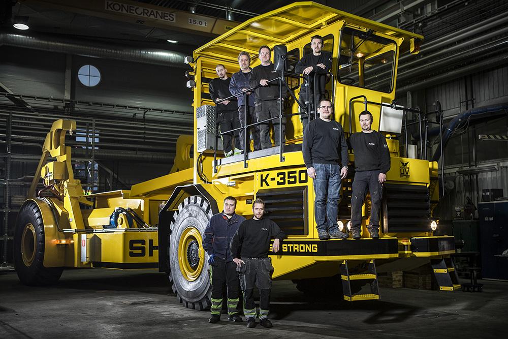 Kiruna Utility Vehicles tillverkar fordon för stål- och smältverk.