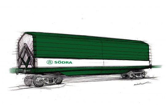 Kiruna Wagon's solutions improve Södra's pulp transports