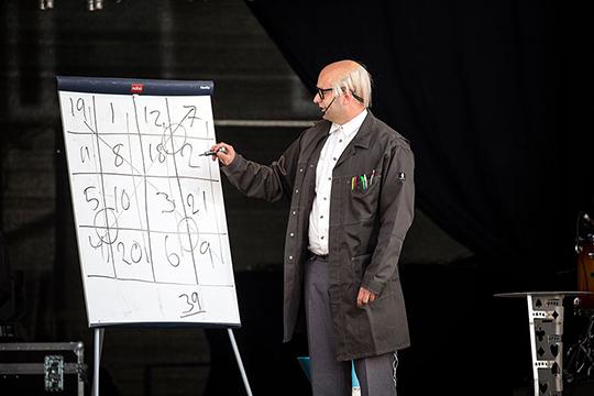 Claes Danell som Uppfinnar-Edvard på Kirunafestivalen 2017.