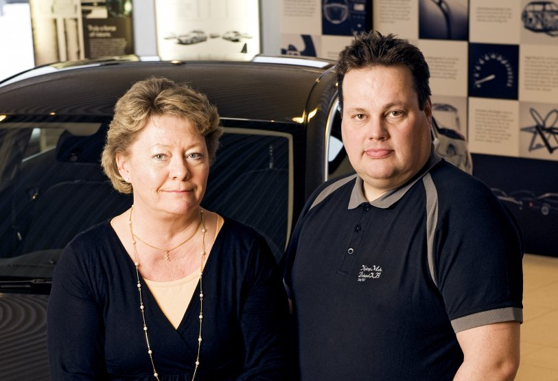 NMV-konsernin omistaja Anita Fors ja Niklas Pääjärvi